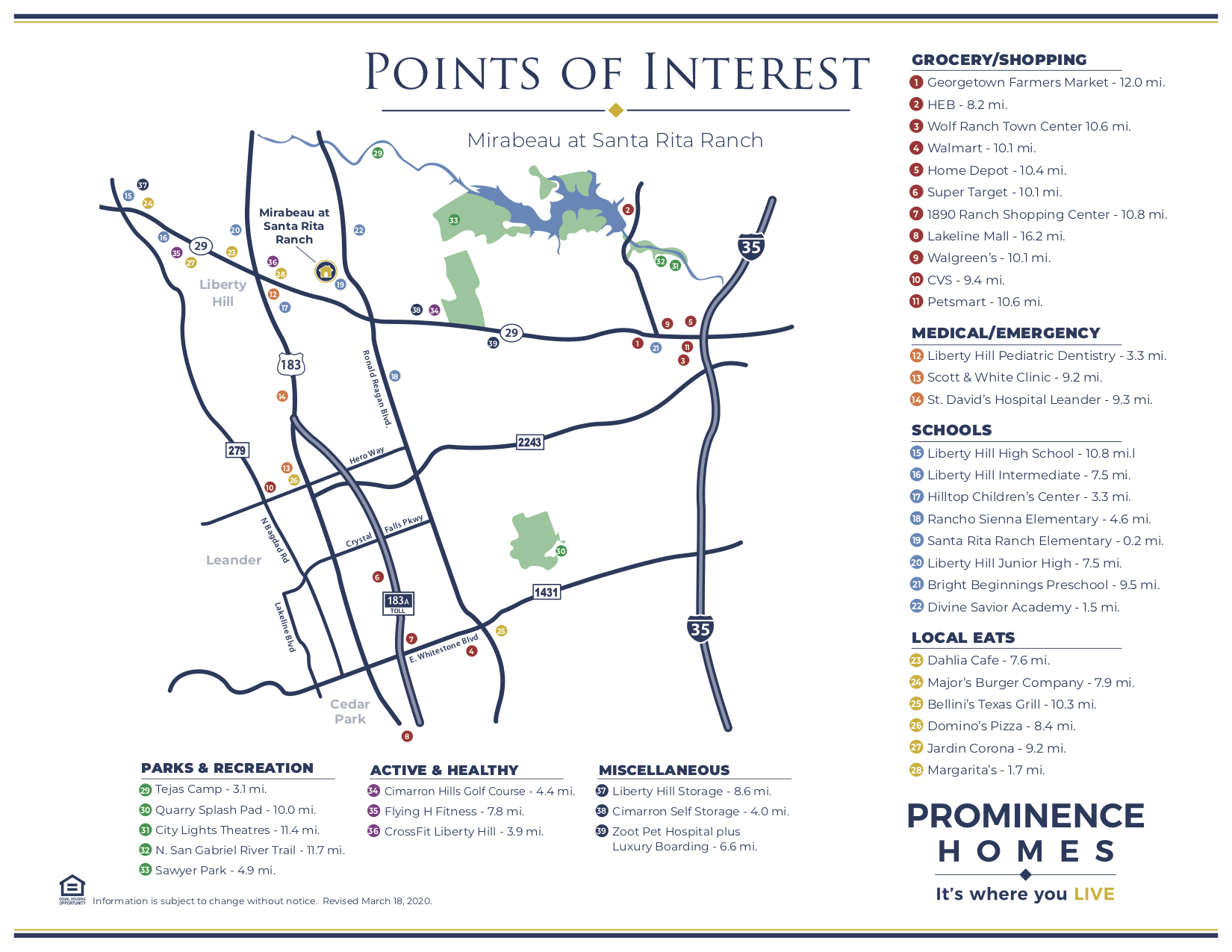 santa rita ranch points of interest map